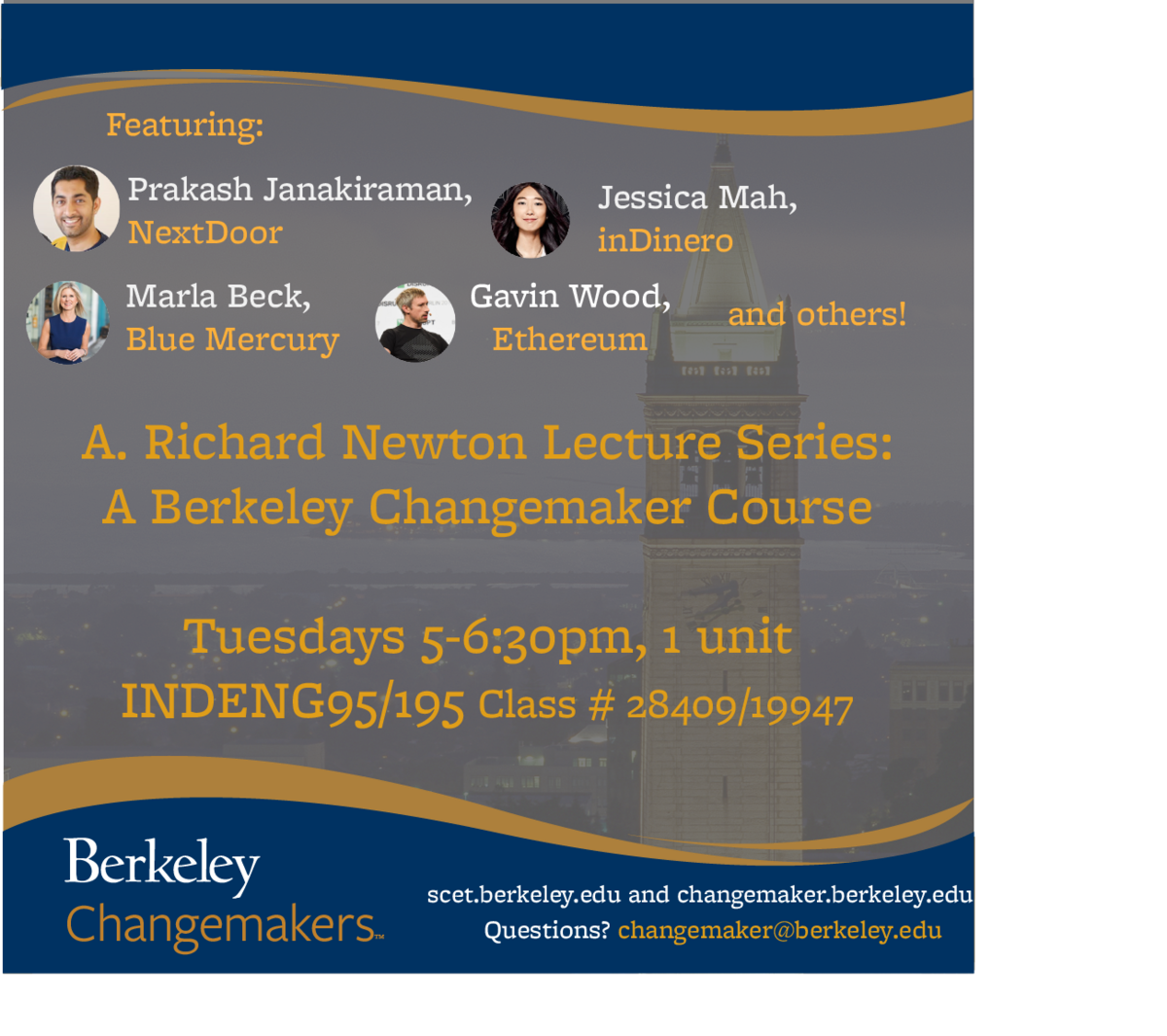 A. Richard Newton Lecture Series: A Berkeley Changemaker Course